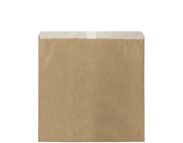 Greaseproof Lined Paper Bags (Size #2 Square Flat, Brown)