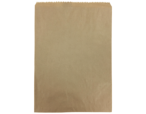 Flat Brown Paper Bags (Size #6)