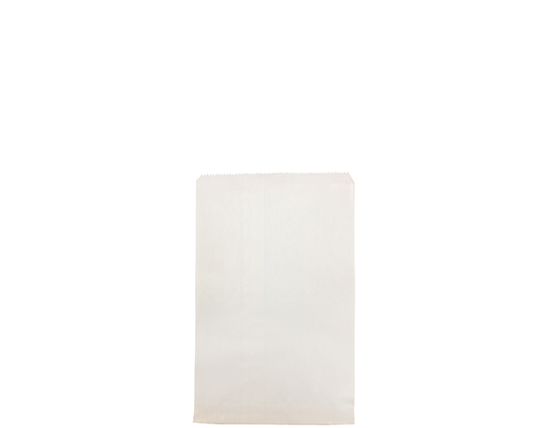 Flat White Paper Bags (Size #2 Flat)