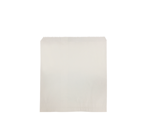 Flat White Paper Bags (Size #6 Square)