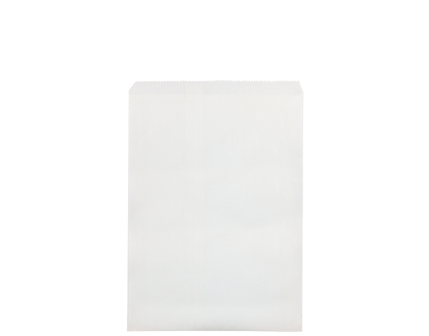 Flat White Paper Bags (Size #6)