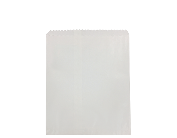 Flat White Paper Bags (Size #8)