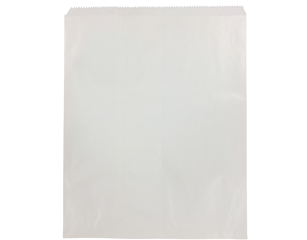 Flat White Paper Bags (Large Pizza)